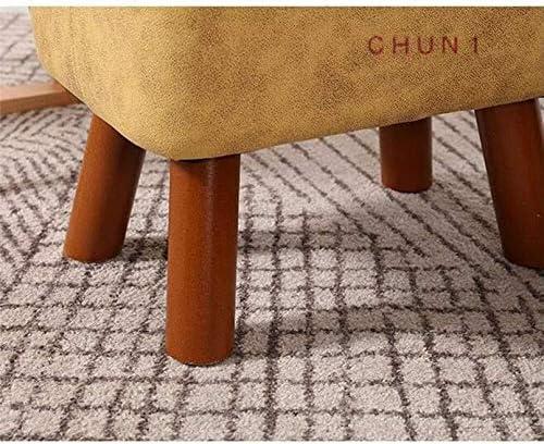 Rembourré Pouf Repose-pieds, 4 en bois Jambes Tech Tissu facile à nettoyer peut supporter 150 kg 124 1121 (Size : 5)