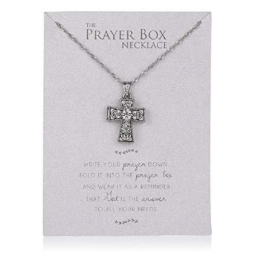 Roman 16-inch Prayer Box Cross Necklace