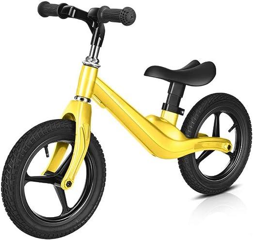 Bicicleta de Equilibrio Equilibrio para Niños Sin Pedales Walker Scooter con Manillar Y Asiento Ajustables para Niños De 2 A 6 Años Bicicleta De Dos Ruedas 3color (Color : Amarillo): Amazon.es: Hogar