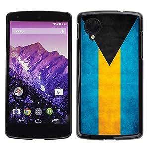 YiPhone /// Prima de resorte delgada de la cubierta del caso de Shell Armor - Bahamas Grunge Flag - LG Google Nexus 5 D820 D821