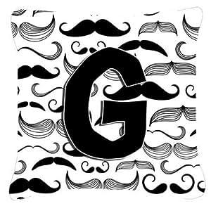 Caroline's Treasures CJ2009-GPW1414 Letter G Moustache Initial Decorative Pillow, Large, Multicolor