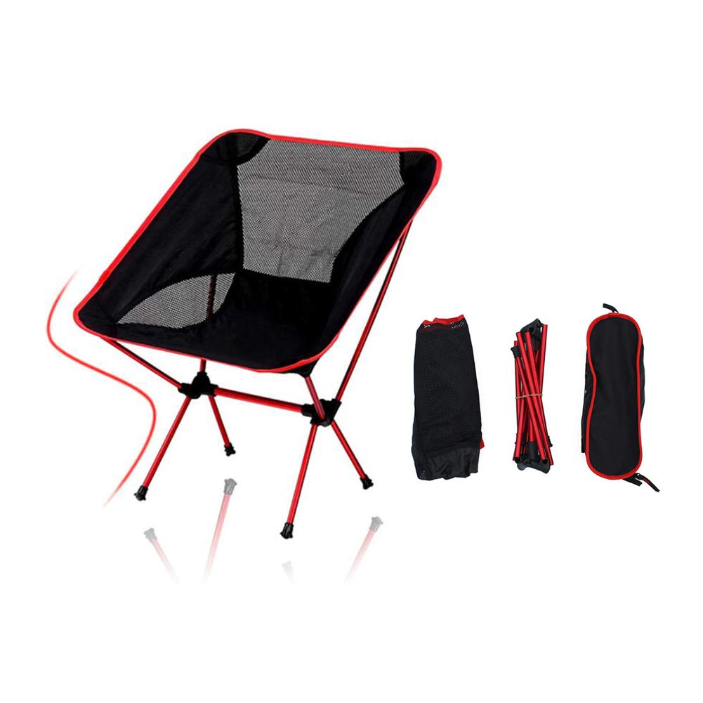 XYHWZY Mini Camping Stool Portable Outdoor Camping Stools Lightweight Folding Camp Chair Foldable for Camping Fishing Hiking Garden Beach,red by XYHWZY