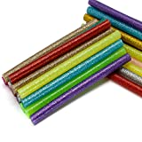 AKORD Glitter Hot Melt GLUE Adhesive Sticks 100x7mm For Heating GLUE Gun, Multi-colour, Set Of 36 Piece