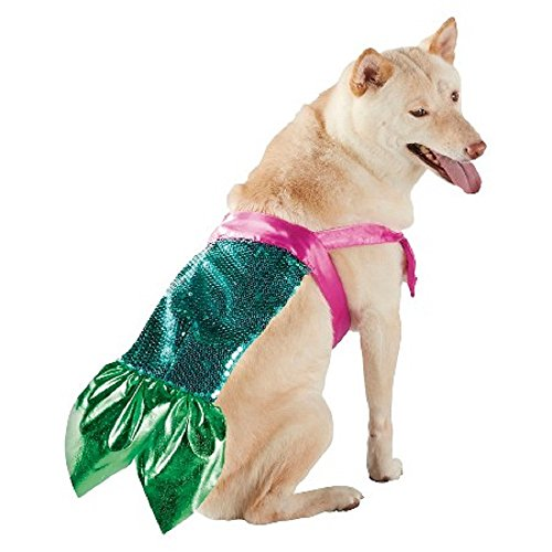 [Mermaid Pet Costume S/M] (Mermaid Dog Halloween Costume)