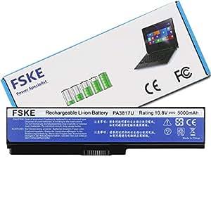 FSKE PA3817U-1BRS PA3819U-1BRS PABAS228 Batería para Toshiba Satellite L755 L750 L650 L655 L675 C655 C650 Notebook Battery, 10.8V 5000mah 6 Células