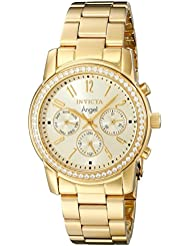Invicta Womens 17020 Angel Analog Display Swiss Quartz Gold Watch