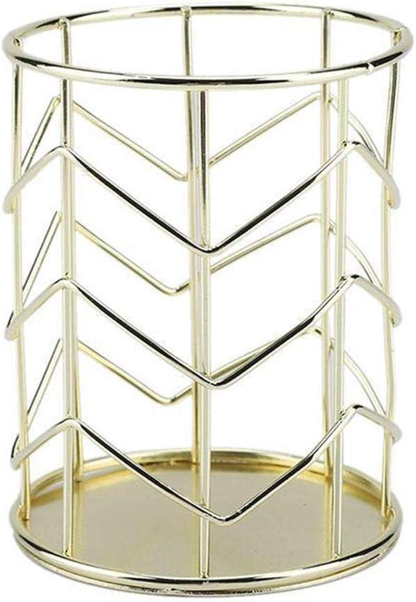 styleinside soporte de lápiz de inalámbrico/taza, soporte para bolígrafo de escritorio de metal para el cepillo de maquillaje o suministros de oficina organizador dorado: Amazon.es: Hogar