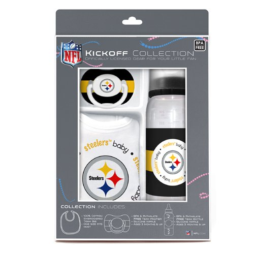 Baby Fanatic NFL Pittsburgh Steelers Baby Fanatic Baby Fanatic Gift (Pittsburgh Steelers Baby Bottles)