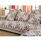 Jacquard sectional sofa slipcovers cotton sure fit,Sofa throw furniture protector anti slip european pastoral couch cover universal-beige 110x180cm(43x71inch)