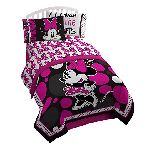 Disney Minnie Mouse Rock The Dots Microfiber 3 Piece Twin Sheet (Mickey Mouse Clubhouse Sheets)