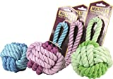 Multipet Nuts for Knots Rope/Rubber Ball w/Tug (Assorted Colors) -...