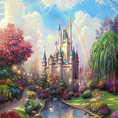 Afazfa Puzzles for Adults, Jagsaw Puzzle Rainbow Castle 1000 Piece 27.56 by 19.69 for Adults Kids Gift: Toys & Games