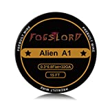 FogsLord Alien Wire Kathal A1 Heat Resistance Wire Spool Braided Electronic Coil 15 ft. AWG 0.3x0.8 Flat + 32GA