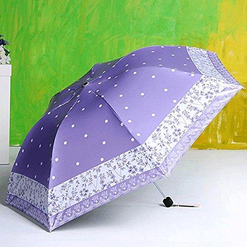 ZQ@QX Parasols uv crème solaire pliage parapluie filles , Purple