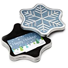 Amazon.ca $50 Gift Card in a Snowflake Tin (Happy Holidays Card Design)