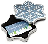 #6: Amazon.com $50 Gift Card in a Snowflake Tin (Happy Holidays Card Design)