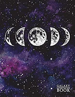 galaxy composition book deep space universe starry night moon phase