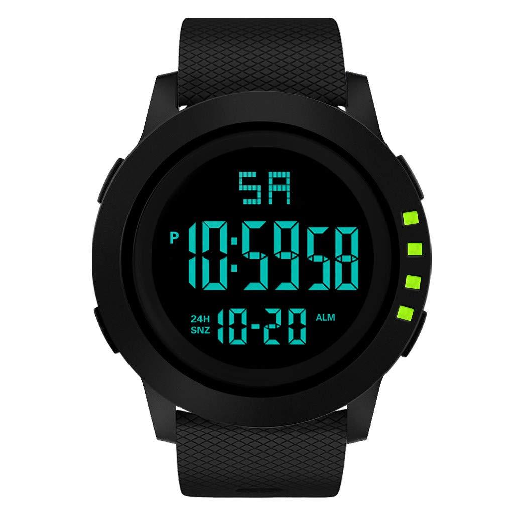 Longra❤ ❤ Moda Hombre Deportes Reloj electrónico/Reloj ...