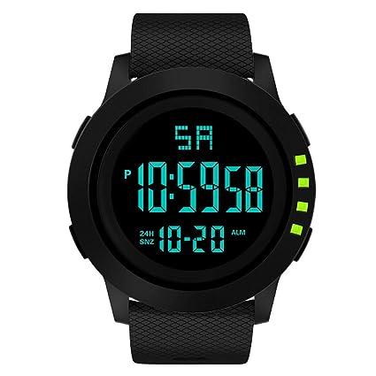 Longra❤ ❤ Moda Hombre Deportes Reloj electrónico/Reloj Inteligente Reloj de Pulsera