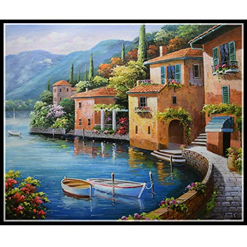 (Allywit 5D Diamond Painting,Handwork Perspective DIY Diamond Painting Cross Stitch Pictures Arts Craft Scenery)