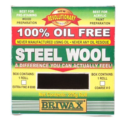 Briwax Steel Wool Grade 0000 Oil Free 225g 1/2lb Roll Liberon Steel Wool