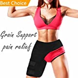 Groin Support - Hip Flexor Brace for Sciatica Nerve Pain Relief - Adjustable Neoprene Groin Compression Wrap for Groin Strain Hip Joint Pain - Compression Recovery Thigh Hamstring Sleeve for Men Women
