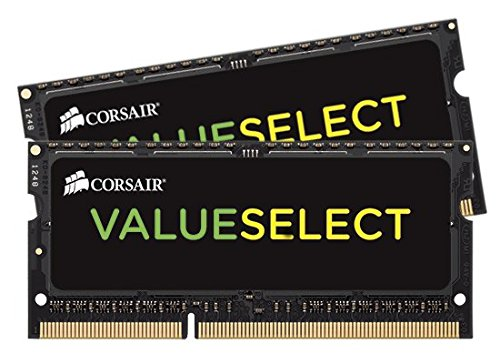 CORSAIR ValueSelect 16GB (2 x 8G) 204-Pin DDR3 SO-DIMM DDR3 1333 (PC3 10600) Laptop Memory Model CMSO16GX3M2A1333C9