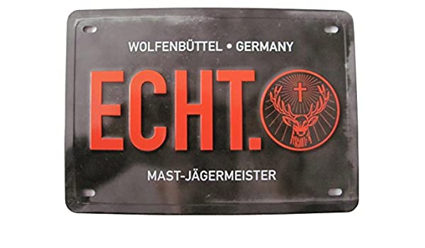 Jägermeister - Real. - cartel de chapa 20 x 14 cm: Amazon.es ...