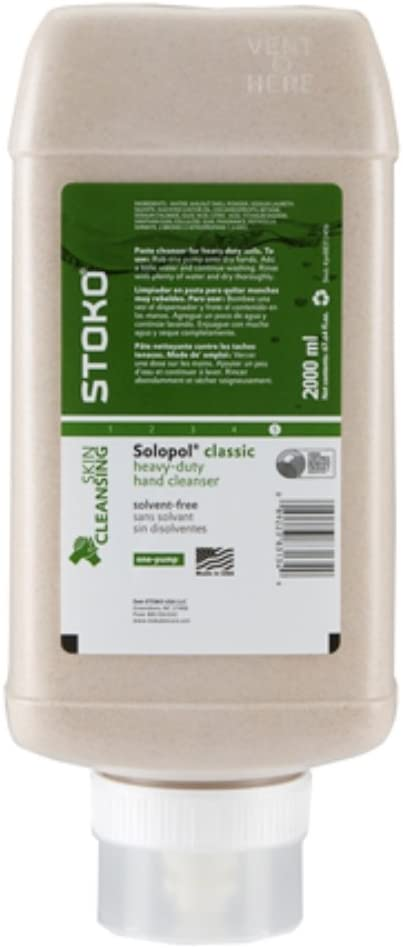 Stoko 88313406 Solopol® Hand Cleaner, 2,000ml One-Pump Bottle, 6/Case