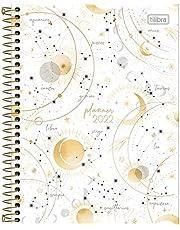 Planner Espiral 17,7 x 24 cm Magic 2022 - Estampa Branca com signos - Tilibra