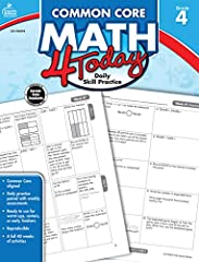 Build a foundation and focus on what matters most for math readiness with this math workbook for fourth-graders. 96-page comprehensive supplement features standards-aligned reproducible activities designed to focus on critical math skills and...