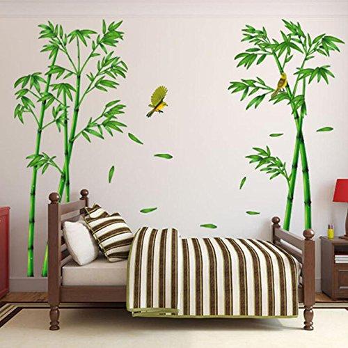 JMHWALL Newest Wall Stickers Deep Bamboo Forest 3D Wall
