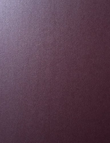 RUBY RED Stardream Metallic Cardstock Paper - 8.5 X 11 inch - 105 lb. / 284 gsm Cover - 25 Sheets from Cardstock Warehouse -