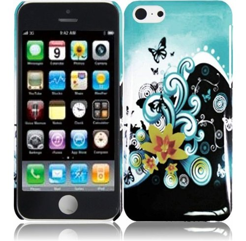 Hedonic Flowers Hard Case Cover Premium Protector for Apple iPhone 5C with Free Gift Reliable Accessory Pen