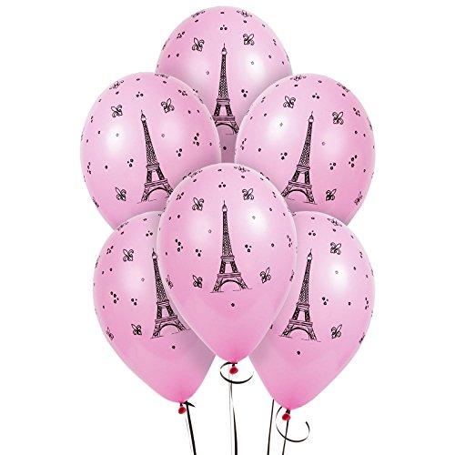 Paris Eiffel Tower Latex Balloons]()