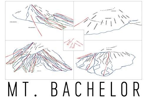Mount Bachelor Poster, Mount Bachelor Ski Resort Poster, Mount Bachelor Art Print, Mount Bachelor