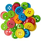 Blumenthal Lansing Favorite Findings Basic Buttons Assorted Sizes, 130-Pack, Citrus