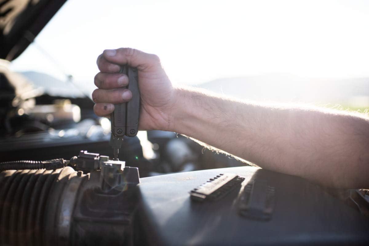Black Oxide with 4 Pocket Nylon Sheath LEATHERMAN Surge Heavy Duty Multi-Tool Leatherman 42 Piece Bit Kit Set and Leatherman Bit Driver Extender