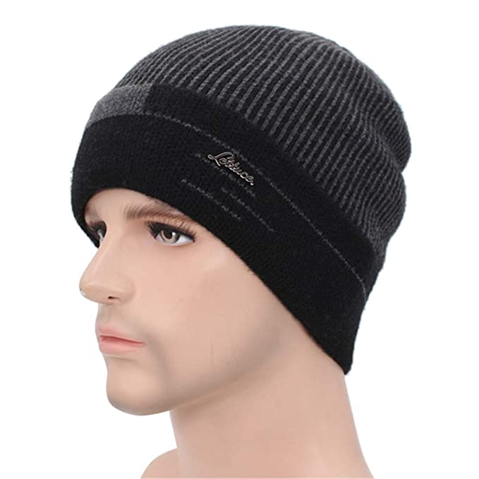 14ffba86781 Image Unavailable. Image not available for. Color  Skullies Beanies Men  Scarf Knitted Hat Cap Male Bonnet Warm Wool Thick Winter Hats for Women