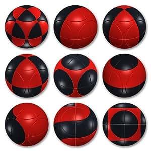 Marusenko Sphere: Black & Red Level 1 - Pelota, color rojo y negro