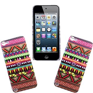 For Apple Ipod Touch 5 5th Gen Various New Designs Printed Hard Shell Back Skin Case Cover + Screen Guard (Aztec Vintage Tribal Style 2)