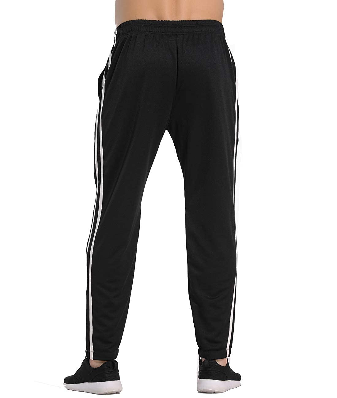 CROSS1946 Mens Joggers Track Pants Athletic Running Jogging Bottoms Multi Pockets Loose Fit Sweatpants