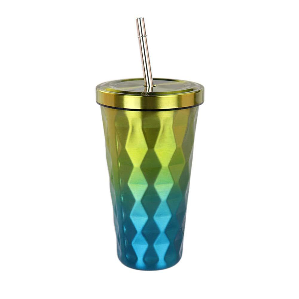 注目 Aobiny 500ml ダイヤモンドグラデーション C ステンレススチールカップ ストロー付き ドリンクタンブラー Aobiny 環境に優しいカップ コーヒーカップ B07L9QVD58 メンズ レディース le C B07L9QVD58, TIME LOVERS:42161082 --- a0267596.xsph.ru