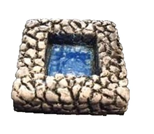 2' Scale Miniature (2'' x 2'' Square Pool (Set of 2) 28mm scale pre painted Dungeon Game Terrain Accessories)