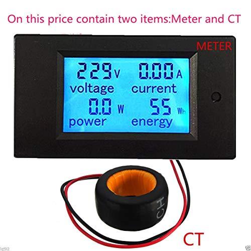100A AC 80-260V 220V 110V LCD Digital Volt Watt Power Meter Ammeter Voltmeter]()