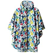 Rain Poncho Jacket Coat for Adults Hooded Waterproof with Zipper Outdoor
