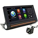 junsun 7-inch Android Car DVR GPS Camera 3G Bluetooth dash cam Video Auto recorder registrator with two cameras FHD 1080p black box