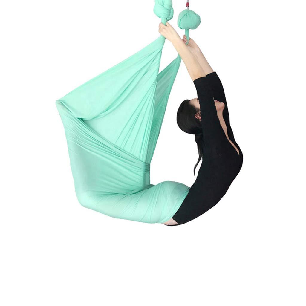 Yoga Aerial Aerial Hängematte Indoor Schaukel Gym Fitnessgeräte Aerial Hängematte Set Anti-Schwerkraft Schaukel, Länge 5m, Breite 2,8m Aerial Fitness Set