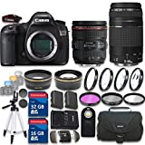 Canon EOS 5DS 50.6 Megapixel DSLR Camera with EF 24-70mm f/4.0L IS USM Lens + EF 75-300mm f/4-5.6 III with 48GB in SDHC Memory & Accessory Bundle (20 Items) - International Version (No Warranty)