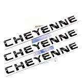 yoaoo® 3x OEM Cheyenne placa Emblemas Insignia para GM Chevrolet Silverado Negro Brillante 3d nuevo